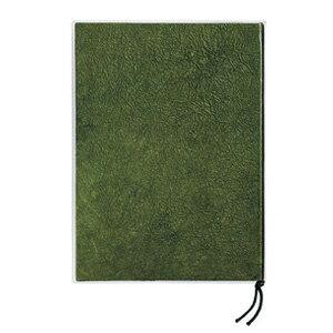 和紙メニュー帳 揉み和紙 (大) 緑  業務用/メニュー/メニューブック/メニューファイル/店舗用品/和風/A4