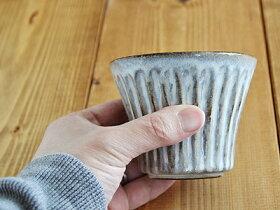 しのぎカップ和食器/コップ/湯呑み/小鉢/ボウル/ストライプ/和風カフェ食器