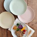 【全品5%OFFクーポン発行中】ディナープレート EASTオリジナル frill(フリル) 大皿/中皿/プレート/お皿/パスタ皿/カレー皿/ワンプレート/ディナープレート/ケーキ皿/サラダ皿/パン皿/花型/おしゃれ/かわいい