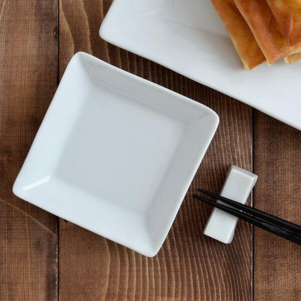 角皿 EASTオリジナルスクエアプレート(S)(STUDIO BASIC)和食器/白 角皿/白いお皿/四角いお皿/小皿/取り皿/パーティー/ポーセリンアート/シンプル/業務用