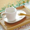 コーヒーカップ&たまご型ソーサー(アイボリー)マグ/カップ/コーヒーカップ/ティーカップ/シンプル/セット食器/ナチ…
