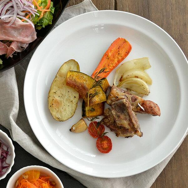 大皿 25.5cm ハーフリム ホワイトディナー皿/大皿 アウトレット/大皿 パーティー/ディナープレート