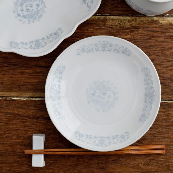 鳳凰 丸皿 18.5cm 中華料理/おもてなし/業務用/餃子/中華/中華食器/取り皿
