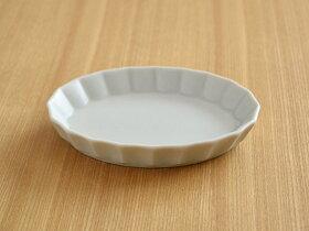 しのぎお花のオーバルボウル(大)19cm楕円皿/ボウル/サラダボウル/ケーキ皿/中皿