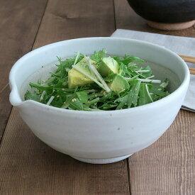 6寸片口すり鉢(白唐津)白いすり鉢 和食器 白い食器 調理用品 すり鉢 すりばち 擂鉢 盛鉢 大鉢 とろろ鉢 おしゃれ カフェ風 ナチュラル