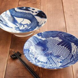 大鉢ボウル 25cm 濃紺 和食器 ボウル 鉢 盛り鉢 盛り皿 煮物鉢 サラダボウル 大きいお皿 深皿 パーティーボウル ボール 和柄 和風 柄物 業務用食器 おしゃれ