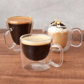 デミタスコーヒーカップ ダブルウォール 二重構造 耐熱ガラスマグカップ カップ コップ マグ コーヒーカップ デミタス デミタスコーヒー エスプレッソ ガラス ガラス製 耐熱ガラス製 食器 洋食器 カフェ カフェ食器 カフェ風 cafe風 おしゃれ