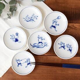 小皿 10cm ギガリンピック 鳥獣戯画 絵付け皿 しょうゆ皿 食器 絵付け皿 豆皿
