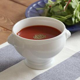 高品質!白磁 ライオントリュフスープ(M) オーブン使用可能スープボウル 白い食器 洋食器 トリュフボール 高級食器 パイ包み ホテル食器 ポットパイ パーティー おしゃれ カフェ食器