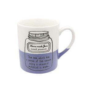マグカップ ジャム ブルーベリーコーヒーカップ マグ カップ コップ イラスト 半磁器 電子レンジ対応 カフェ食器 おうちCafe モダン おしゃれ かわいい