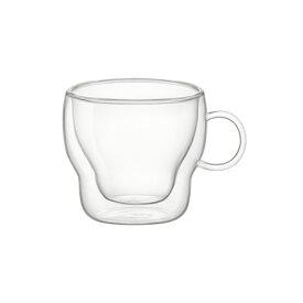 ダブルウォール エスプレッソ ソープ 90cc ボルミオリ ロコグラス おしゃれ ガラスマグ ガラスマグカップ 耐熱ガラスマグ デザートカップ コップ カップ ガラス食器 ガラス製 食器 アイスコーヒー パフェグラス 来客食器 ボルミオリ ロッコ