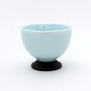 煎茶 140cc 高台ロクべー煎茶 青磁 ライトブルー 湯呑み 湯飲み ゆのみ 湯呑 カップ コップ 茶器 食器 おしゃれ 和食器