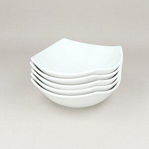 角型中鉢 15cm クリーム斑点 5枚セット 和食器 中鉢 ボウル 鉢 サラダボウル フルーツボウル 取り鉢 食器 おしゃれ 洋食器 食器セット