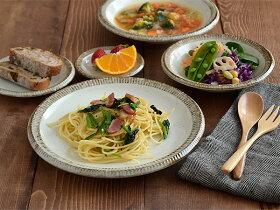 大皿渕十草パスタ皿/ディナープレート/サラダ皿/デザートプレート/和食器/お皿/和皿