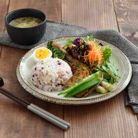 和食器(渕錆粉引)ディナープレート大皿/和の大皿/和風パスタ皿/ナチュラル/パスタ皿/カフェ食器