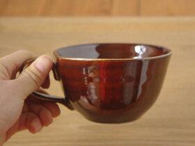 EASTオリジナル和カフェスタイルスープマグ(アメ色)(アウトレット込み)スープカップ/カラフルなスープカップ/カフェオレボウル/マグカップ/スープボウル