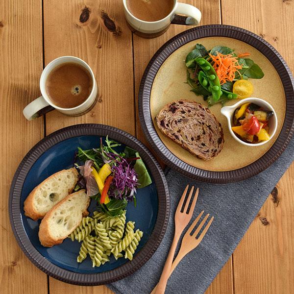 渕十草 大皿 デリスタイル minorubaパスタ皿/ディナープレート/サラダ皿/デザートプレート/和食器/お皿/和皿