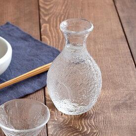 ガラス徳利 1合 岩模様 クリア 日本製 徳利 とっくり 酒器 徳利 ガラス ガラス ガラス食器 冷酒 日本酒 晩酌 和食器 おしゃれ