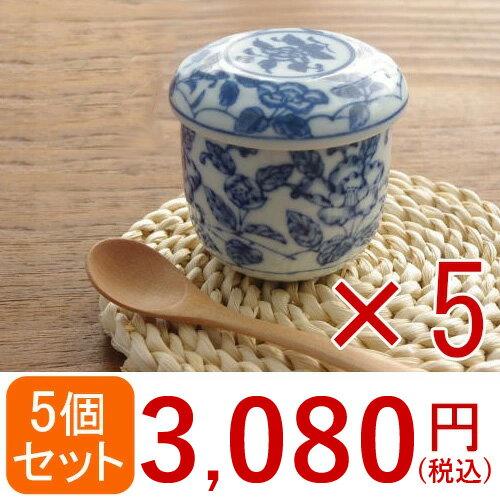 送料無料!茶碗蒸し 牡丹 5個セット 茶碗蒸し 器/茶碗むし/ちゃわんむし/蒸し碗/和の器/和食器/和柄/花柄