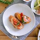 和角 中皿(白) 19.5cm ケーキ皿/サラダ皿/お皿/プレート/白い食器/洋食器/ポーセリンアート