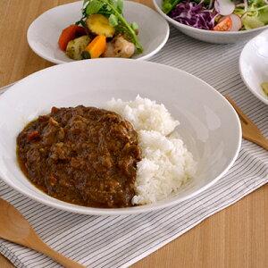 うず 軽い和食器 大きめ盛鉢 白(8寸) 25cm カレー皿 パスタ皿 ボウル 白い食器 大皿 大鉢 盛り鉢 深皿 ポーセリンアート 軽量 軽い 軽量磁器