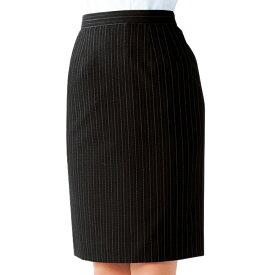 スカート 12225 7号〜15号 ボストン商会 ボンユニ BONUNI ポリエステル100% 黒 ストライプ