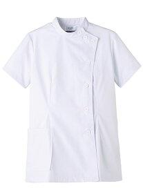 【スクラブ】【トリンプ 女性用ケーシー-S〜4L MR-750】 半袖 メディカル 看護師 病院 横掛け白衣 ホワイト