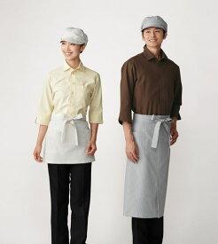 【シャツ】【サンペックスイスト 男女兼用ショップシャツ-SS〜4L ET5733】前掛 洋食 和食 デリバリー 書店 ベーカリー