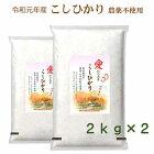 無農薬こしひかり無洗米特別栽培米新米愛知県産離乳食防災食の画像