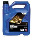 【正規品】elf(エルフ) 二輪用4サイクル エンジンオイル モト4 クルーズ MOTO 4 CRUISE 20W50【4L容器】
