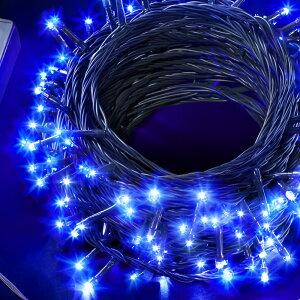 全6色LEDイルミネーションライト200球ストレートタイプカラー:ブルー20mメモリー機能内蔵コントローラー付5連結可能タイプ【AD&CTORONIC】消費税込送料無料!!【あす楽対応】