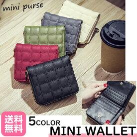 二つ折り財布 レディース ミニ財布 ミニウォレット コインケース かわいい おしゃれ ウォレット 使いやすい ラウンドファスナー カードケース コンパクト メンズ