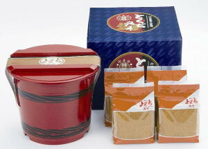 【ギフト】特撰麦つぶみそ朱樽箱入り 3kg(750g袋×4)