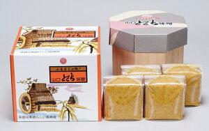 【ギフト】麦つぶみそ樽箱入り 4kg(1kg袋×4)