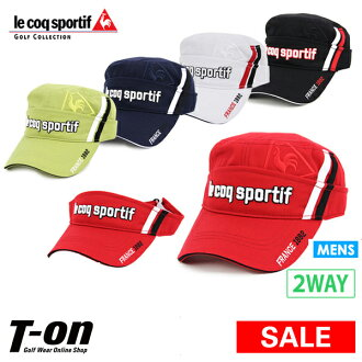 De Gaulle cap 2WAY specifications solid logo embroidery line design 2018 fall and winter new work golf to become the Le Coq Sportif golf Le Coq le coq sportif GOLF men cap sun visor