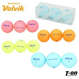 ボルビック Volvik メンズ レディース ゴルフボール 3個セット カラーボール VIVID LITE ビビットカラー マット仕上げ 優れた打感 ゴルフ