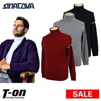 Golf wear in the fall and winter 100% latest China Koba Portofino SINACOVA PORTOFINO men sweater turtleneck high neck wool captain sleeve line design China Koba emblem 2018