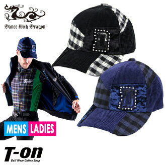Golf in the fall and winter latest dance with dragon dance with dragon DANCE WITH DRAGON DWD men gap Dis cap patchwork Capps Berri part terry rhinestone logo 2018