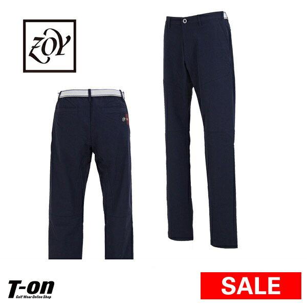 【30%OFF SALE】ゾーイ ZOY メンズ パンツ ロングパンツ ウエスト一部伸縮 ストレッチ ロゴワッペン 【送料無料】 ゴルフウェア