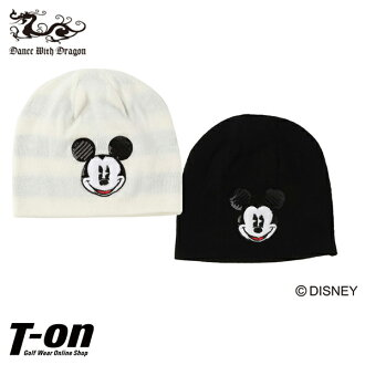 Golf in the fall and winter latest dance with dragon dance with dragon DANCE WITH DRAGON DWD men gap Dis knit cap knit hat spangles detail Mickey design 2018