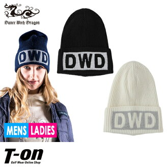 Golf in the fall and winter latest dance with dragon dance with dragon DANCE WITH DRAGON DWD men gap Dis knit hat knit cap spangles logo knit hat wool blend logo design 2018