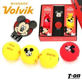 ボルビック Volvik×ディズニーコラボ メンズ レディース ゴルフボール&クリップマーカーのセット ディズニーコラボ ミッキーマウス ボール6個 セット ギフトにもオススメ! ゴルフ