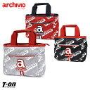 アルチビオ archivio メンズ レディース カートバッグ カートポーチ ラウンドバッグ ロゴデザイン ロゴ刺繍 ファスナ…