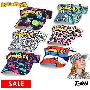 ラウドマウス ゴルフ LOUDMOUTH GOLF 日本正規品 メンズ レディース サンバイザー 立体ロゴ刺繍 サイズ調節可 ボタニカル柄 シャーク柄 ドッグ柄 パイナップル柄 レオパード柄 フラミンゴ柄 2021