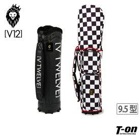 V12 ゴルフ ヴィ・トゥエルブ メンズ レディース キャディバッグ 9.5型 着せ替えできるキャディバッグ チェッカー柄 存在感抜群! 【送料無料】 2019 春夏 ゴルフ