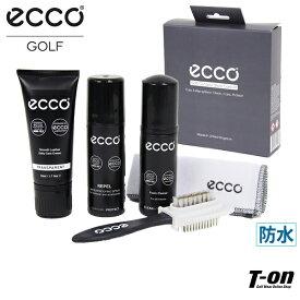 エコーゴルフ ECCO GOLF 日本正規品 メンズ レディース シューズケアキット 3ステップセット フォームクリーナー&スムースレザーケアクリーム&防水スプレー ブラシ付き クロス付き ゴルフ