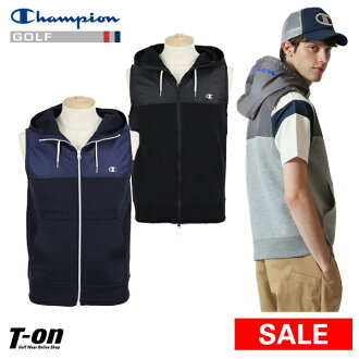It is new work golf wear in stretch corrugated cardboard knit material logo design 2019 spring and summer with the champion champion golf Champion Japanese regular article men strumpet strike double zip best food