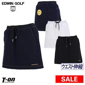 【50%OFF SALE】エドウィン エドウィンゴルフ EDWIN golf レディース スカート ウエスト伸縮 ストレッチ カラフルなロゴプリント ゴルフウェア
