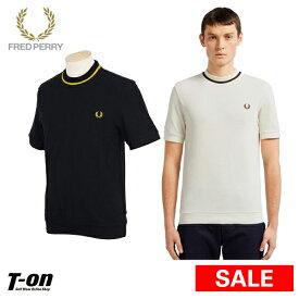 【30%OFF SALE】フレッドペリー FRED PERRY 日本正規品 メンズ Tシャツ 半袖鹿の子シャツ クルーネックピケTシャツ 綿100% ロゴ刺繍 ゴルフウェア