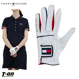 トミー ヒルフィガー ゴルフ TOMMY HILFIGER GOLF 日本正規品 メンズ レディース グローブ 左手用グローブ 片手用グローブ Mサイズ トリコロールカラー ロゴワッペン 2019 春夏 新作 ゴルフ